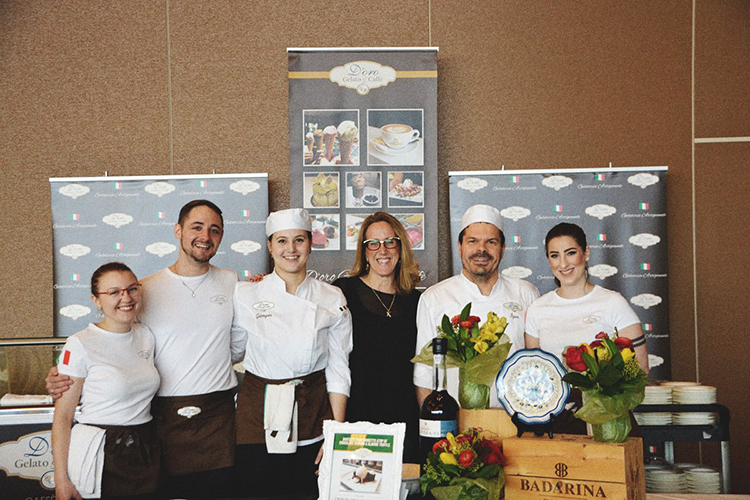 d'oro team at 2018 vancouver wine festival