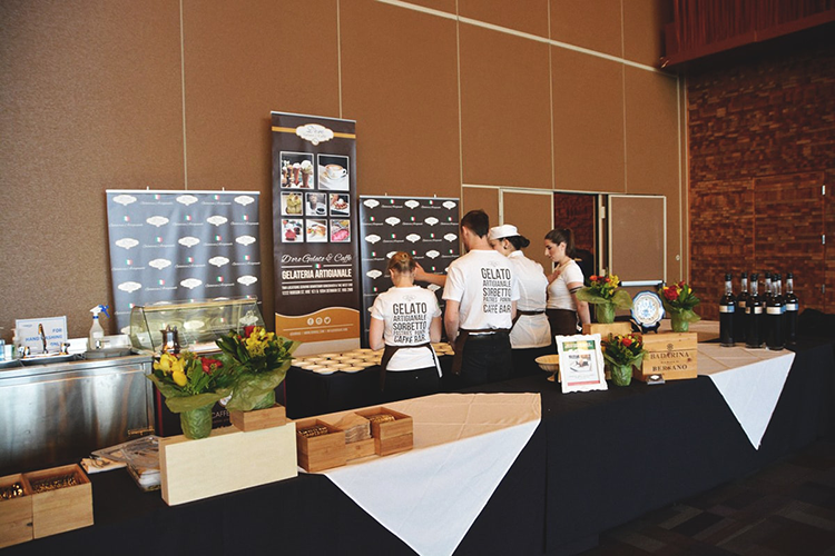 d'oro gelato booth at 2018 vancouver wine festival