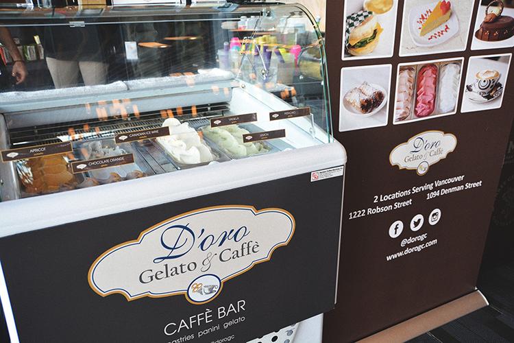 d'oro gelato e caffè gelato stand at 2017 wine festival