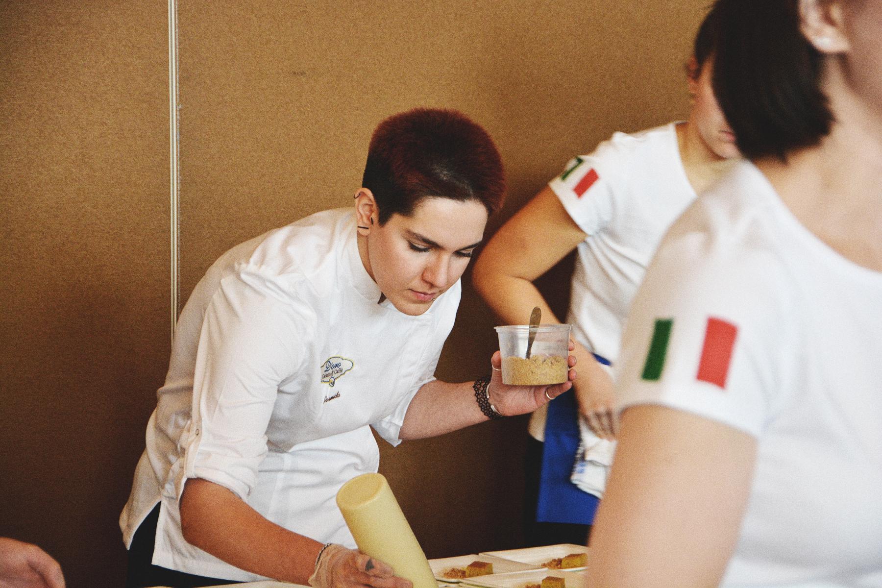d'oro gelato booth at 2020 vancouver wine festival