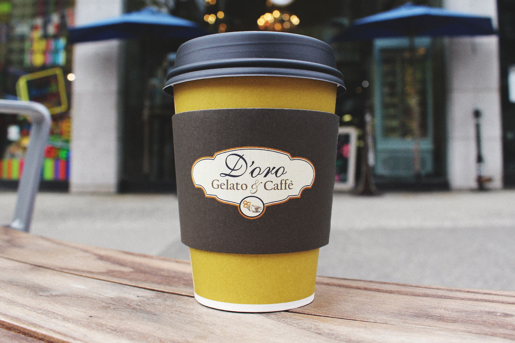 cup of coffee from d'oro