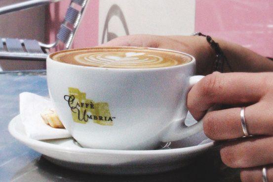 cup of cappuccino at D'oro Gelato e Caffè